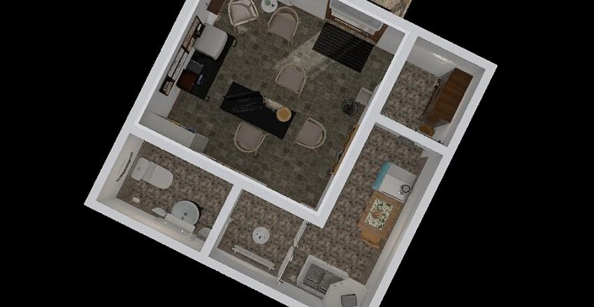 Little office in the village Interior Design Render