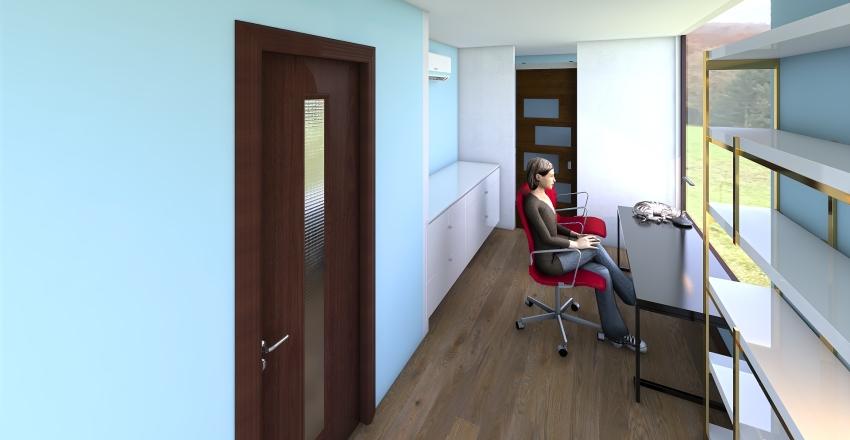 biuro - zmiany-3 pomieszczenia Interior Design Render
