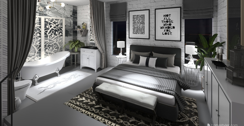 Small City Apartment Interior Design Render