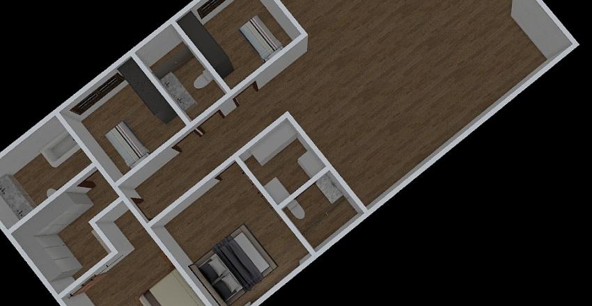 Planta superior Interior Design Render