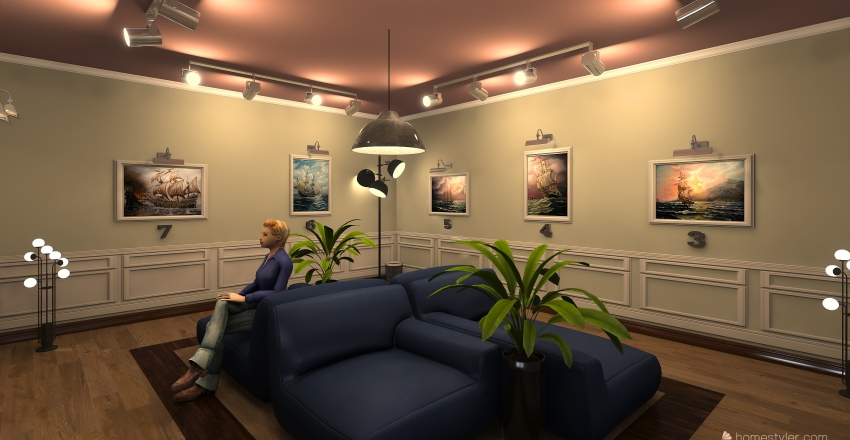 expo 2018 Interior Design Render