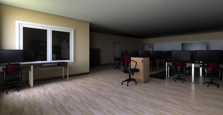 Crumley's Classroom Interior Design Render
