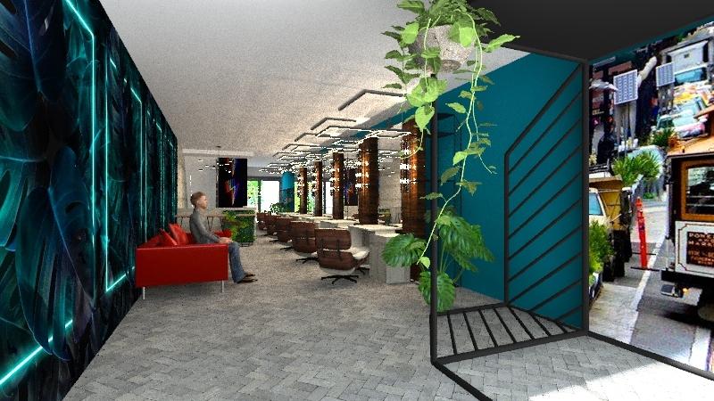 Barberia Malabia  Interior Design Render