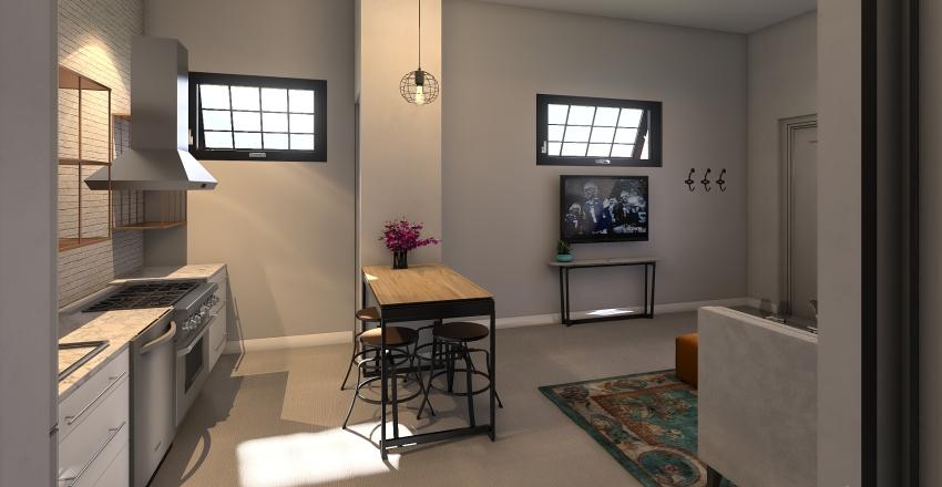 Grace Garage Apartment Small Interior Design Render