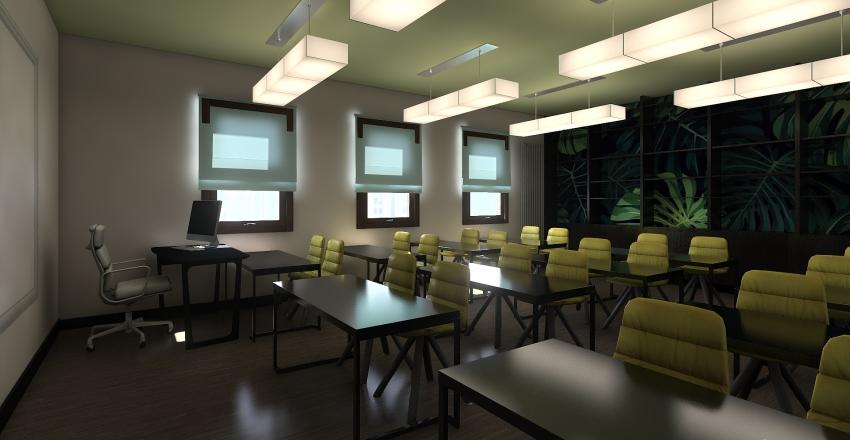 sala biologiczna Interior Design Render