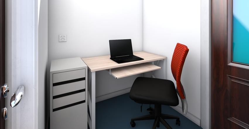 Tiny Office Interior Design Render