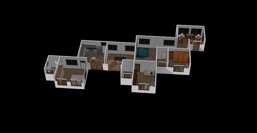 House Pasir Puteh Type 4 Interior Design Render
