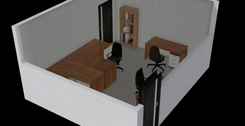 New Office Layout Interior Design Render