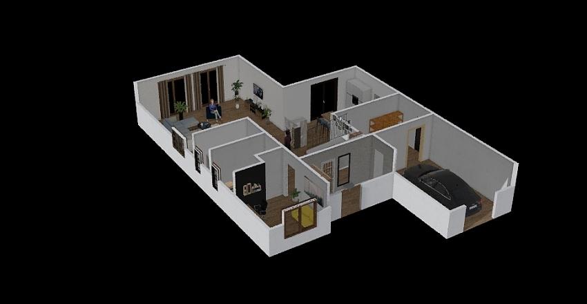 domek A&A Interior Design Render