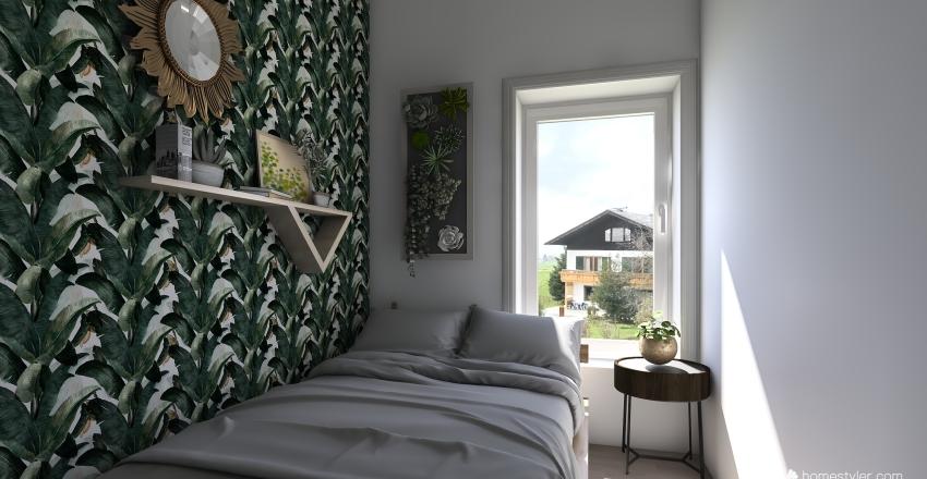 ložnice Interior Design Render