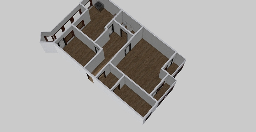 3-комн_0348 Interior Design Render