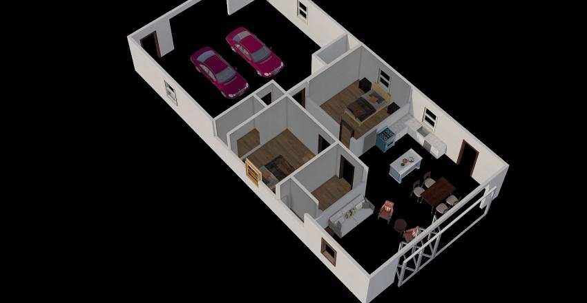 Steve's Cabin Interior Design Render