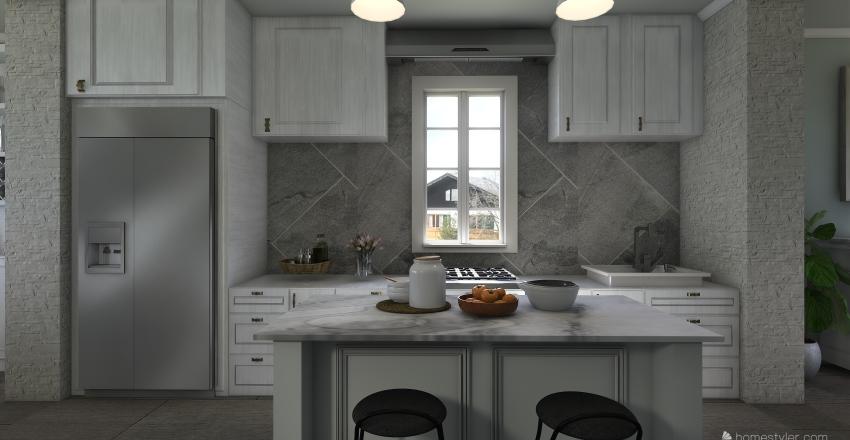Modern classic Interior Design Render