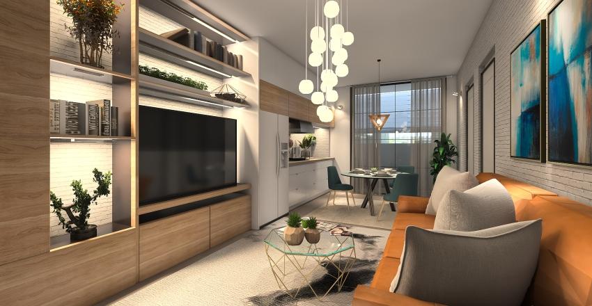 Small Space Apartment Interior Design Render