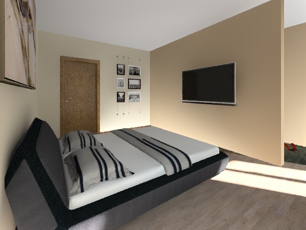 dormitorul Interior Design Render