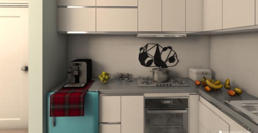 bright apartment  Interior Design Render