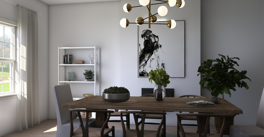 sala de jantar Interior Design Render