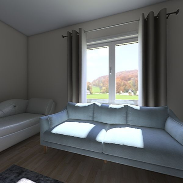 living room/garden Interior Design Render