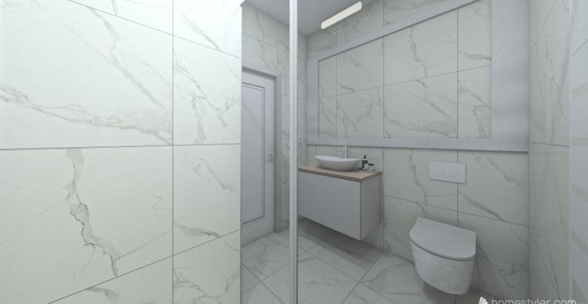 Small scandinavian bathroom Interior Design Render
