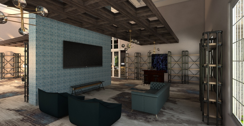 villa botanica Interior Design Render