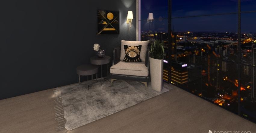 Comfy & cool master Interior Design Render