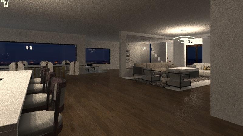 Modern house design Interior Design Render
