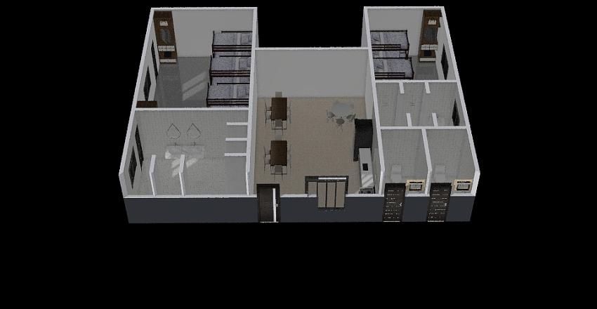 ALOJAMENTO 1º BPRV Interior Design Render
