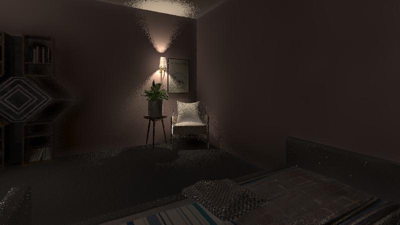 co-sleep bedroom w baby Interior Design Render