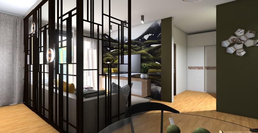 Panorama City apartment Initial idea (Bratislava, Slovakia) Interior Design Render