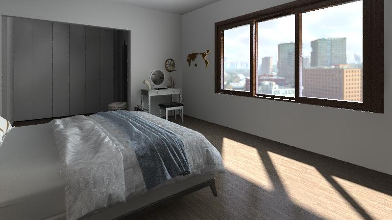 chambre + dressing Interior Design Render