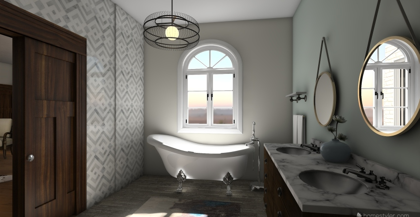 Family Farmhouse Interior Design Render