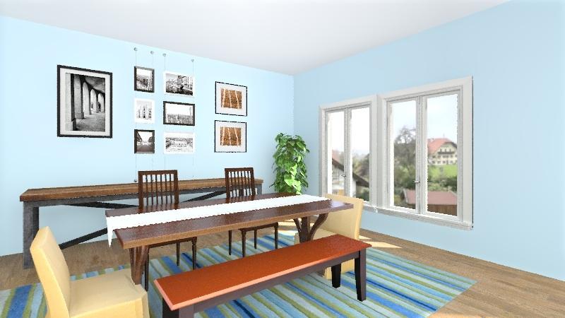 Kristen Dining room Interior Design Render