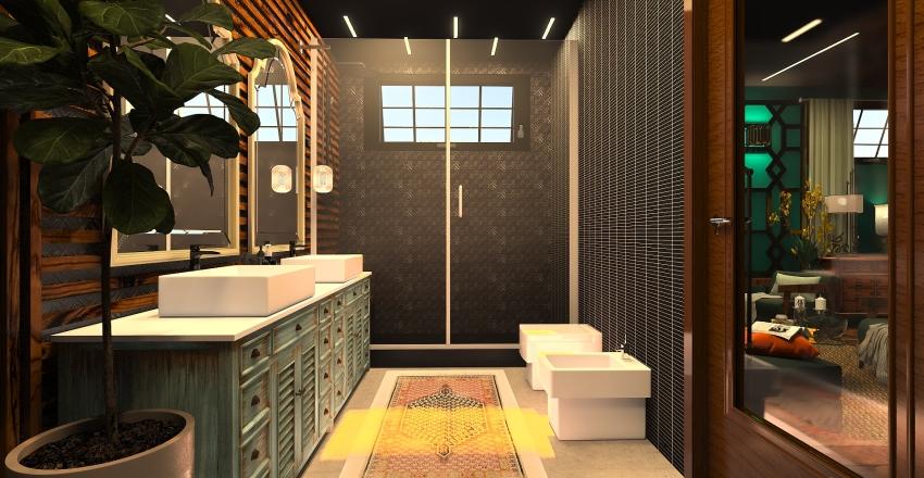 arabic studio Interior Design Render