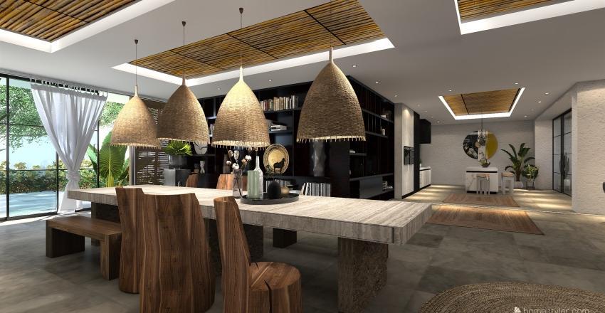 Villetta in stile etnico  Interior Design Render