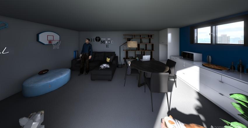 Basement Re-design Interior Design Render