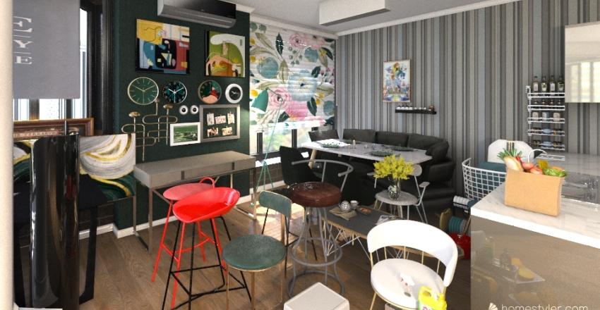 Проект квартиры № 2 Interior Design Render