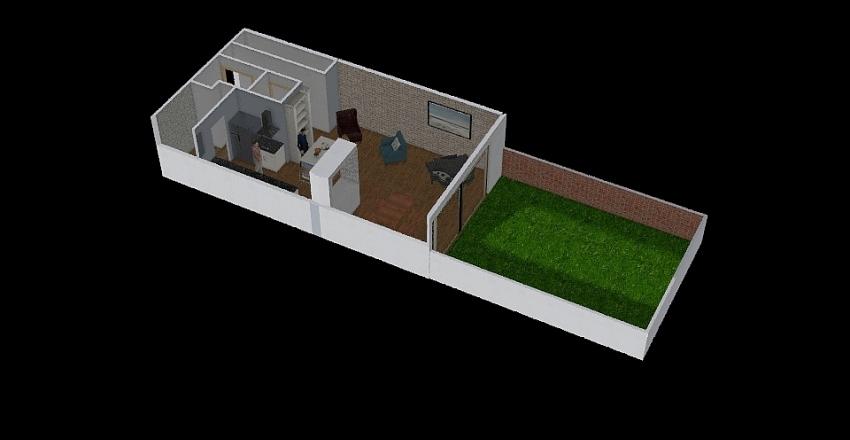 Ground Kitchen Interior Design Render