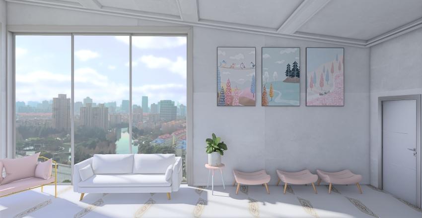 pastel apartment Interior Design Render