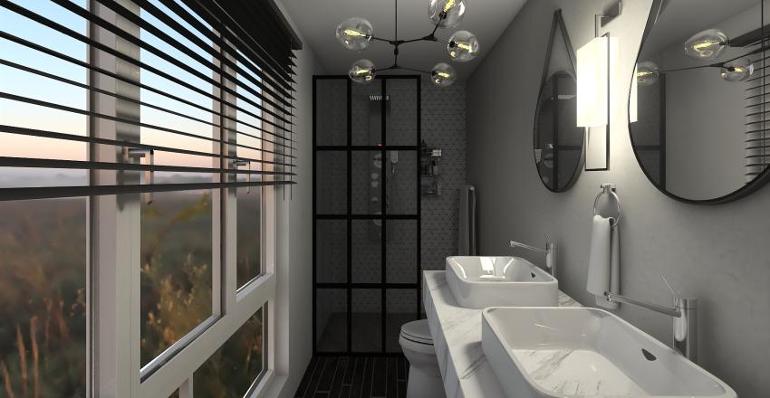 Modern Family Home Interior Design Render