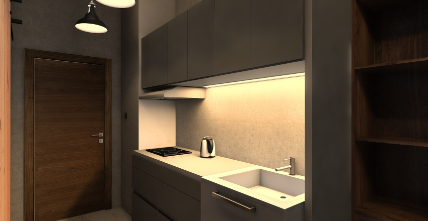 Victoria Station 2 Living and Dining Area Interior Design Render