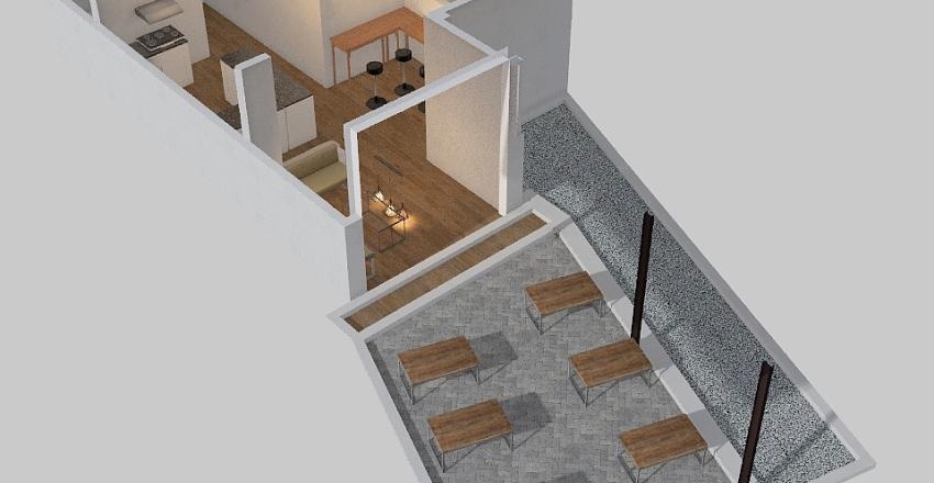 TAdi Pagi Coffee Interior Design Render
