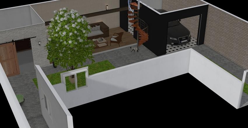 Area de Lazer Interior Design Render