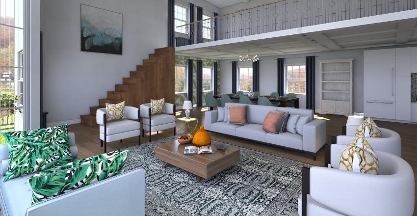 Maine Vacation Home Interior Design Render