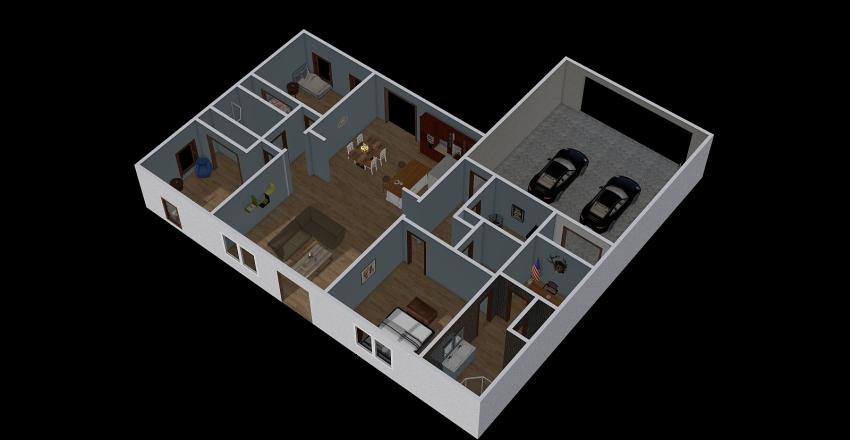 1 Story House Interior Design Render