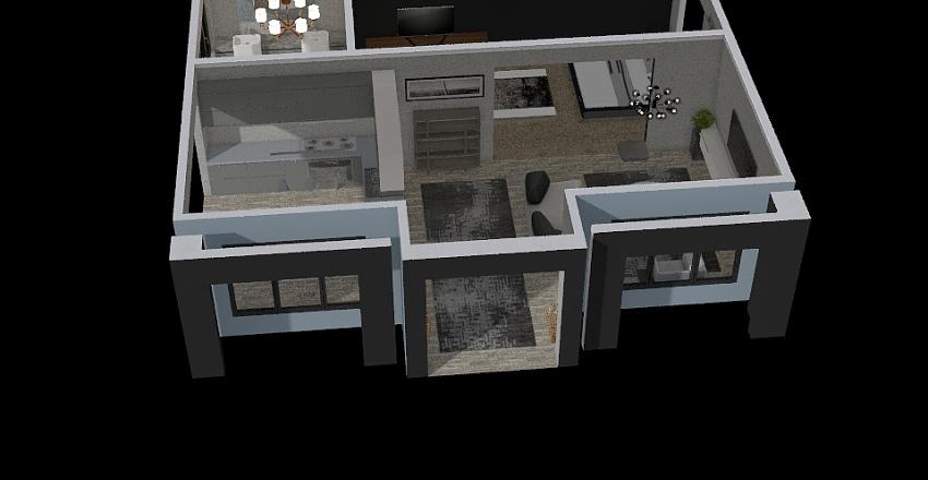 50 shades of grey Interior Design Render