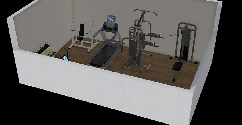 gym mo Interior Design Render