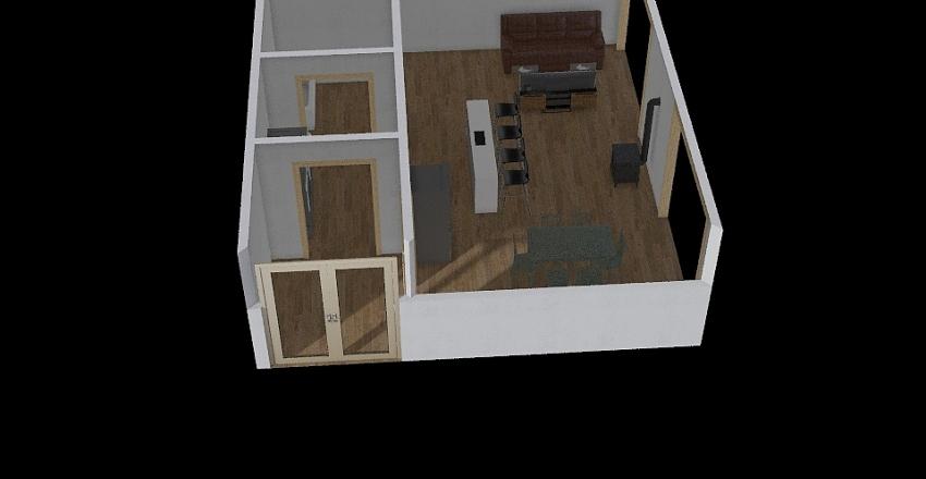 plan chalet étage Interior Design Render