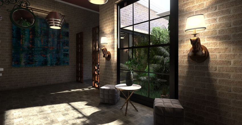 nature cottage  Interior Design Render