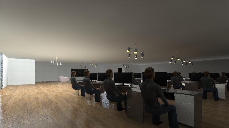 Cologic Work Area Interior Design Render