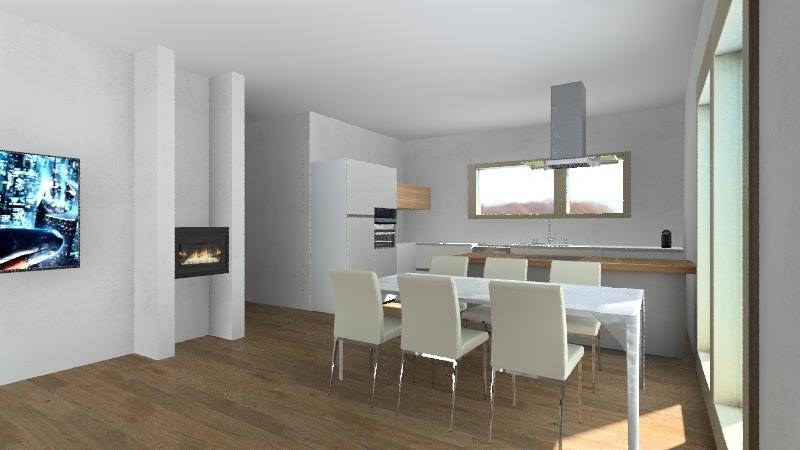 Kuchyň Interior Design Render